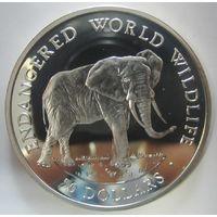 Остров Кука. 50 долларов 1990 слон (98)
