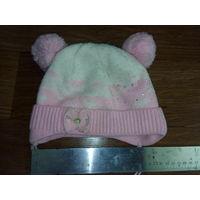 Шапочка зимняя розовая БЕСПЛАТНО ВТОРОЙ товар (одежда-обувь)  на выбор!