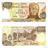 Аргентина. 1000 песо (образца 1976-83 года, P304d, UNC)