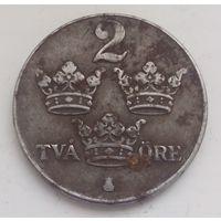 Монета Швеция,старая монета Швеция,2 эре 1949