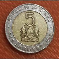 106-30 Кения, 5 шиллингов 2005 г.