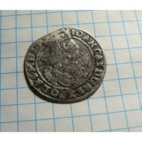 6 грошей 1666  Ян Казимир