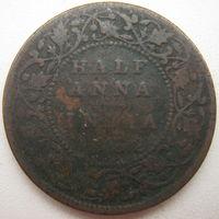 Индия 1/2 анна 1852 г. (g)