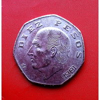 81-05 Мексика, 10 песо 1981 г.