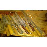 Набор разных напильников из СССР - 11 штук.