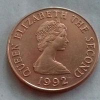 2 пенса, Джерси 1992 г., UNC