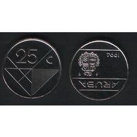 Аруба _km3 25 центов 1994 год (ba) (b06)