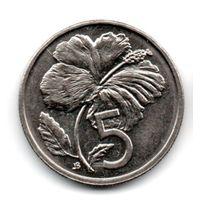 ОСТРОВА КУКА  5 ЦЕНТОВ 1992. ЦВЕТОК