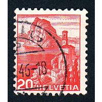 36: Швейцария, почтовая марка, 1936 год, номинал 20с, SG#375A