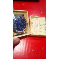 """Часы """"Зим"""" редкий гильошированый циферблат коробка+паспорт в комплпекте с 1 рубля без мц!!"""