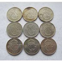 Швеция 9 монет по 50 эре