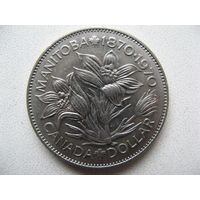 Канада 1 доллар 1970 г. 100 лет со дня присоединения Манитобы (юбилейная)