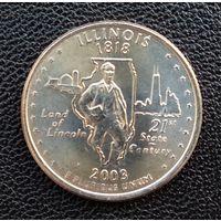 США Иллинойс 25 центов 2003 г. Р