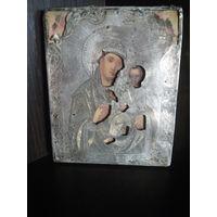Икона Пресвятая Богородица  Тихвинская в окладе 84 с золочением