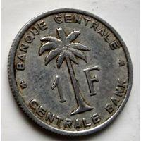 Бельгийское Конго (Руанда-Урунди) 1 франк, 1960  2-2-6