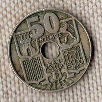 Испания 50 сентимо 1949/Якорь(Oct)