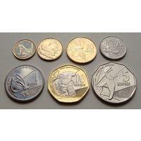 """Сейшельские острова. """"Сейшелы"""" набор 7 монет 1,5,10,25 центов 1,5,10 рупий 2016 год"""