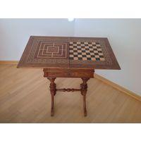 Антикварный карточный, шахматный стол. 19 век