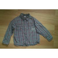 Рубашка в клеточку 110-116 на мальчика