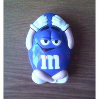 Компьютерная мышка PS/2 Фигурка M&M's Синий (эмэндэмс, Эм-н-Эмс) - Retro M&M's PC MOUSE PS/2 (BLUE) Model No: MM28499. (возможен обмен)
