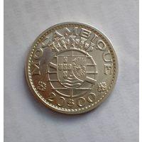 Португальский Мозамбик 20 эскудо 1960 г (серебро)