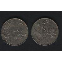 Финляндия km65 10 пенни 1998 год (M) (f34)