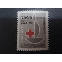 Таиланд 1973 Красный Крест надпечатка на марке 1963 г.