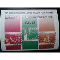 Австралия 1982 спорт блок