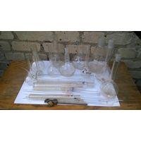 Лабораторные склянки+  бонус пару масок от кароновируса