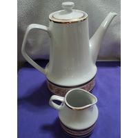 Кофейник +сливочник chodziez made in poland -1960-е г. лот 39