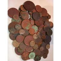 100 монет старой меди ( 3 ). с рубля