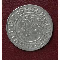 Полугрош 1509 г. Два хвоста, четыре точки.