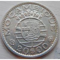 18. Мозамбик Португальский 20 эскудо 1960 год, серебро