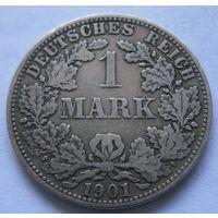 Германия 1 марка 1901 отметка монетного двора A - Берлин