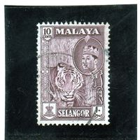 Малайзия. Селангор. Ми-195. Тигр (Panthera tigris).1961.