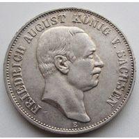 Германия, Саксония, 5 марок, 1904, серебро