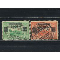 NL Колонии Нидерландская Индия (Индонезия) 1934 Авиапочта Надп #203-4