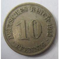 Германия. 10 пфеннигов 1912 D . 1-67