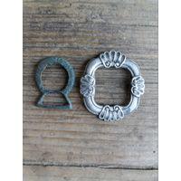 Лот старинных пряжек (бронза и серебро)