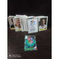 Наклейки футбол,EURO 2000,70шт, распродажа коллекции (с рубля)