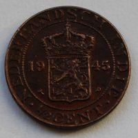 Голландская Ост-Индия 1/2 цента, 1945 г.