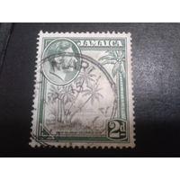 Ямайка, колония Англии 1938 король Георг 6, пальмы
