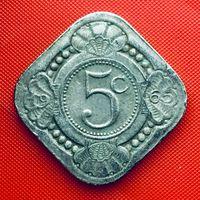 14-22 Нидерландские Антильские острова, 5 центов 1965 г.