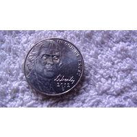 """Коллекция = США ,5 центов """"Томас Джефферсон"""", 2012 D.Серия пятицентовых монет, посвященных 200-летию освоения Запада (Westward Journey Nickel Series). распродажа"""
