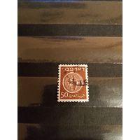 1948 Израиль Мих  6хА Лин 11 оценка 2,2 евро монеты на марках археология культура (4-12)