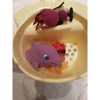 ''косметичка'' для детских игрушек в ванной