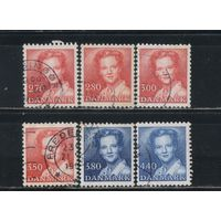 Дания 1984-90 Маргрете II Стандарт #793,823,825,906,938,966