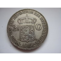2 1/2 Гульдена 1919 Нидерланды (Копия)