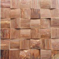 Деревянная мозаичная панель 3d