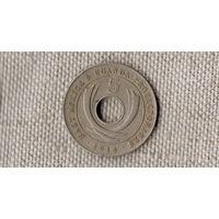 Уганда Протекторат 5 центов 1914 / Редкая /(#С)